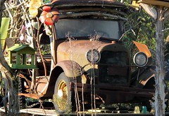 This is a story about a man named Jed... (frankieleon) Tags: interestingness interesting junk rust bestof country alabama rusty pickup cc creativecommons popular yardart fordtruck frankieleon