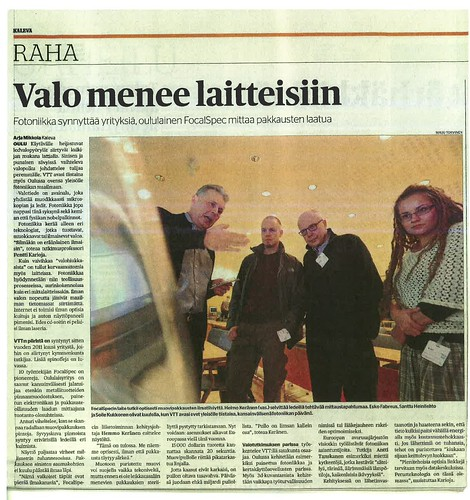VTT, Kaleva newspaper article, Finland