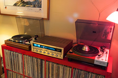 The vintage hi-fi installation... (DjD-567) Tags: vintage turntable recordplayer electronics amplifier audio receiver hifi thorens marantz directdrive 6300 2285 td160 beltdriven quartzlock