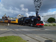 JA 1240 Leaving Dunedin (geoffreyw@kinect.co.nz) Tags: train railway gorge ja excursion harbourview taieri 1240