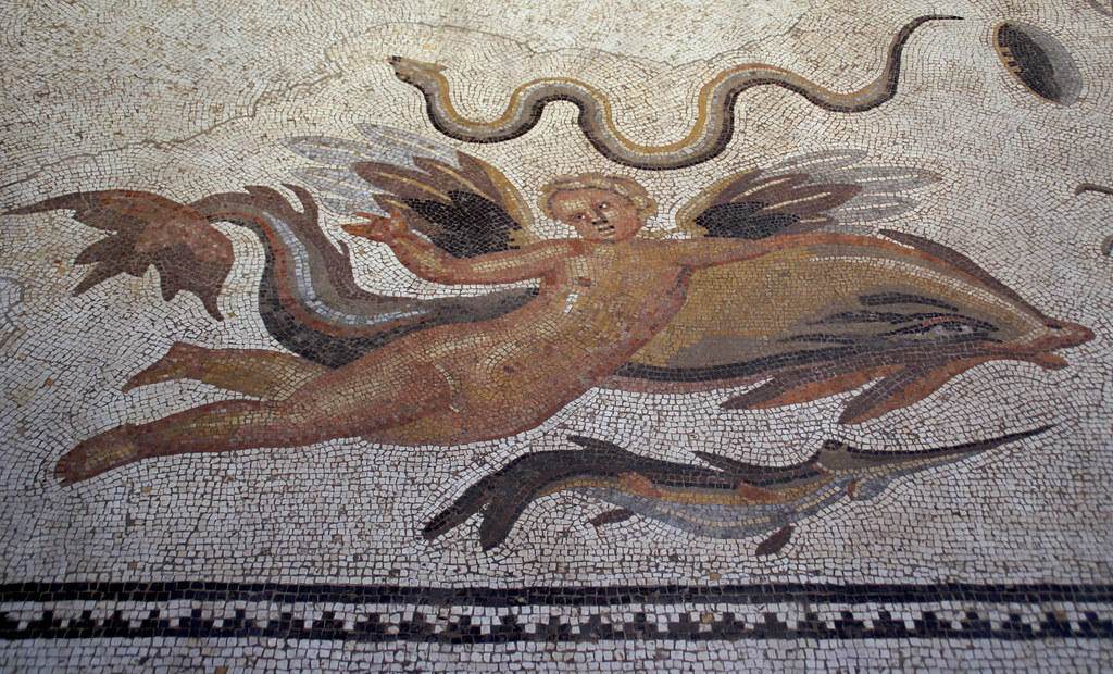 Römisches Oceanus Mosaik Aus Bad Vilbel (Roman Oceanus Mosaic From Bad  Vilbel) (