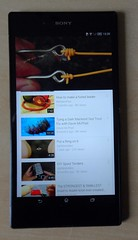 Watching Youtube on a Sony Xperia Z Ultra