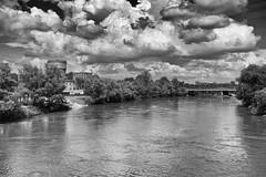 The Donau in Ingolstadt (Kobus v. Leer) Tags: city bridge trees cloud tower water clouds river germany deutschland bomen wasser cloudy toren wolken stadt brug turm wasserturm stad duitsland donau watertoren rivier ingolstadt baume brucke alterwasserturm