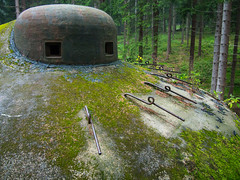 Czechoslovak WW2 Bunker (janklvac) Tags: brown color detail green closeup architecture forest landscape woods technology gray czechrepublic fortification orlickhory
