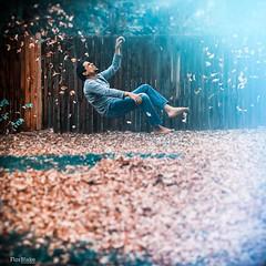 Lighthearted Autumn (Flor Blake) Tags: blue autumn fall fineart levitation dreams whimsical fineartphotography