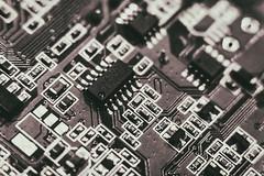 Elements (andrey.senov) Tags: printed circuit board electronics element component computer печатная монтажная плата электроника элемент компонент компьютер bw blackwhite blackandwhite чернобелое fujifilm fuji xa1 fujifilmxa1 macro макро 35faves