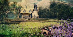 Photo contest Luanes World - Welcome to my dream (CeCeGy) Tags: second life sl hobbiton photo contest luanes world magical spring heaven