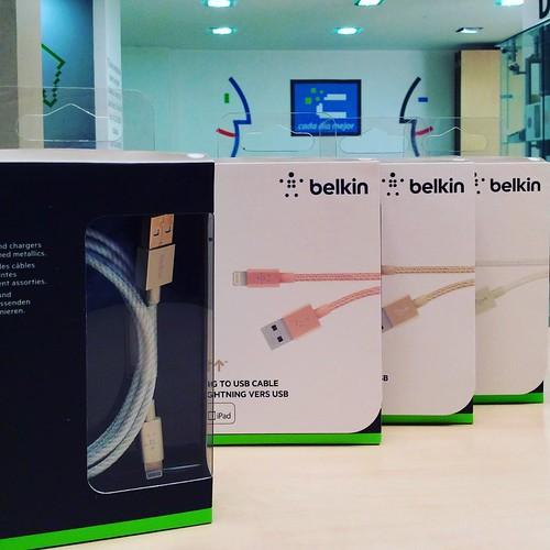 Los nuevos cables Lightning de Belkin ya están disponibles en @compudemano, totalmente garantizados. #cadadiamejor #instagood #belkin #like4like