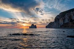 Pan di Zucchero, Masua (Fabrizio Contu) Tags: landscape seascape sea water sunset sun clouds sardegna sardinia masua pandizucchero fujifilm fujifilmxt10 long exposure