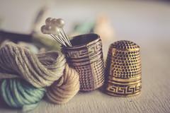 S.A.T.I.S.F.A.C.T.I.O.N (Ayeshadows) Tags: textile macro monday rumbles thimbles pastel threads huda pins