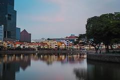 No one (elenaleong) Tags: boatquay singaporeriver elenaleong reflections oldshophouses
