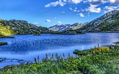 San Bernardino Pass (2066 m) in the evening (frodeturer (check albums for themes / places)) Tags: alps alpen alpine lake see schweiz switzerland mountains bernardino evening boat frodeturer hdr addicted hdraddicted