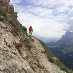 Stairway from heaven... (Hanneke Bantje) Tags: dolomitti dolomieten italie italy italia mountains bergen zomer summer wandelen wandeling hiking hike rosszahne sudtirol