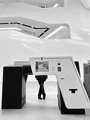 insert your card ! (heinzkren) Tags: wu wien vienna austria architecture architektur indoor printer drucker blackandwhite biancoetnero bw schwarzweis technic terminal automat wirtschaftsuniversität college student card slot panasonic