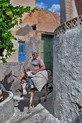 Ἐπὶ πώλου ὄνου (Dimitil) Tags: emporeio santorini islands greekislands aegean aegeansea greece hellas people portrait animals tradition traditionalsettlements traditionalarchitecture religion