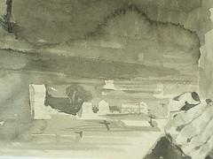 DELACROIX Eugène - Figure à Tête monstrueuse et Oiseau aux Ailes déployées survolant une Ville (drawing, dessin, disegno-Louvre RF10604) - Detail 18 (L'art au présent) Tags: dessins disegno personnage figure figures people personnes characters art painter peintre details détail détails detalles 19th 19e dessins19e 19thcenturydrawing 19thcentury detailsofdrawing croquis étude study sketch sketches louvre museum france paris eugènedelacroix eugène delacroix animal animals animaux pose model man men hommes portrait portraits face visage horse horses cheval chevaux head heads monstre monster monsters bird birds oiseau aigle eagle city town grave tombes cross croixblanche croix douleur pain ciel sky cieux