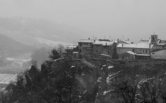 blizzard in linaro (lucafabbricesena) Tags: linaro village emiliaromagna italy snow blizzard building walls oldbuilding winter nikon d800