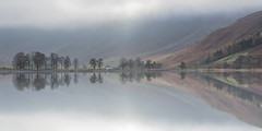 Light On Buttermere (Kathy ~ FineArt-Landscapes) Tags: buttermere lakedistrict cumbria britain reflections light trees mountains water mist cloud