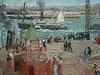 PISSARRO Camille,1903 - L'Anse des Pilotes et le Brise-lames Est, Le Havre, Après-Midi, Temps ensoleillé (Le Havre) - Détail 10