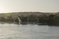 Sunset on Nile (Vjekoslav1) Tags: nile nil river rijeka feluka felluca sunset zaton desert pustinja zelenilo green water voda africa afrika aswan asuan nubia nubija zalaz sunce