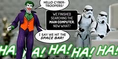 PopFig: Saloonitics (JD Hancock) Tags: jdhancock popfig comics lol webcomics geeky photocomics fun funny joker starwars dccomics stormtroopers