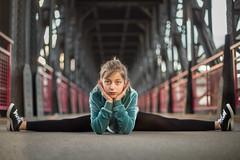 Dancer on a bridge (Nathalie Le Bris) Tags: allezhop reynes danse pont flickrfriday bridge girl retrato bailarín puente danseur portrait throughherlens