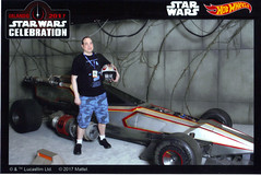 SWCO 4-14-17 (79) (Comic Con Culture) Tags: starwars starwarscelebration starwarscelebrationorlando starwarscelebrationorlando2017 swco swco2017 40thanniversary xwing fighterpilot rebelpilot car scifi hotwheels custumcar