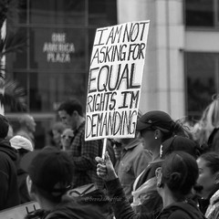 I Am Not Asking for Equal Rights, I'm Demanding (bamoffitteventphotos) Tags: ifttt instagram womensmarch sandiegowomensmarch equalrights equality oneamericaplaza sandiego california usa january21 2017 women protestsign