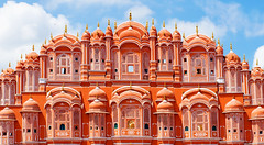 Palais des vents de Jaipur (Voyages Lambert) Tags: architecture city concepts dome facade famousplace hawamahal india indianculture jaipur journey mughalempire palace rajasthan sky tourism town traditionalculture travel traveldestinations northindia