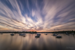 Dusk in Motion (Crouchy69) Tags: sunset dusk landscape seascape ocean sea water coast clouds sky motion long exposure shell park greenwich sydney australia