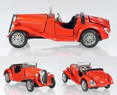 MER-70-Fiat-508S (adrianz toyz) Tags: mercury 70 fiat 508 s balilla coppa doro diecast toy model car 143 scale italy 1934 sports
