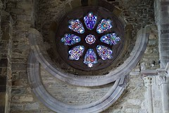 St. David's Cathedral (@AnnerleyJphotos) Tags: blue britain cathedral circle circular cymru david gb glass pembrokeshire round saint sirbenfro stdavids stained uk wales welsh window