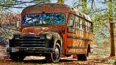 No More School for Me !! (Bob's Digital Eye) Tags: bobsdigitaleye bus canon canonefs55250mmf456isstm flicker flickr orange outdoor rust schoolbus t3i vehicle wheels