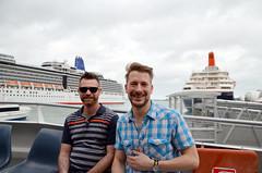 Shawn and Matthew on the Ferry to Devonport (sssdc1) Tags: shawn newzealand auckland northisland matthew devonport ferry ship cruise