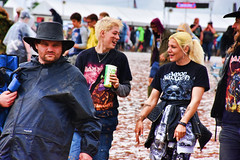 Man, did you see that? (mikegmt77) Tags: concert donington iron maiden download june mud people faces rain nightwish