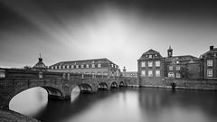 Castle Bridge (frank_w_aus_l) Tags: nordkirchen castle monochrome wideangle sw noiretblanc bw longexposure nikon d800 1424 reflection germany nordrheinwestfalen deutschland de