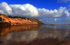 Moody OCEAN BEACH (Lani Elliott) Tags: lanielliott lani elliottlani nature naturephotography beach sand oceanbeach coastline scene scenic view light cloud clouds sky skies scenictasmania australia tasmania strahan westcoast
