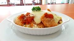 Baked rice with chicken & mozarella❤  #mozarella #cheese #baked #bakedrice #rice #foods #food #yum #yummy #chicken #tomato #sauce #foodporn #cafe #restaurant #jakarta #indonesia (veneishiag@rocketmail.com) Tags: yum baked sauce rice jakarta cheese chicken indonesia foods food bakedrice tomato foodporn restaurant yummy mozarella cafe