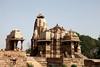 Khajuraho Temple Steps (Heaven`s Gate (John)) Tags: khajraho temple steps india architecture blue sky sunshine history johndalkin heavensgatejohn monument hindu religion madhya pradesh