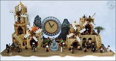 A city of sand, wind and time (sweetsha) Tags: lego moc sand time wind ancheim bravely default clock