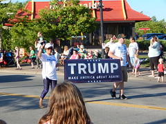 The worst part of the parade (mestes76) Tags: 080416 duluth minnesota spiritvalleydaysparade parades people strangers politics politicians republicans gop trump donaldtrump president potus campaign election supporters racist hatred evil signs awfulpeople sad