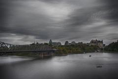 Alexandra bridge Ottawa Ontario Canada (M&M_Photography) Tags: followme tourism travel photo picture cloudy canada quebec ontario ottawa riverside river fairmontchateaulaurier hotel bridge alexandrabridge