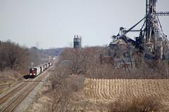 Taking the long view (AndyWS formerly_WisconsinSkies) Tags: train railroad railway railfan canadianpacificrailway canadianpacific cprail cp sooline soo soolinesd60 emd sd60 emdsd60 locomotive