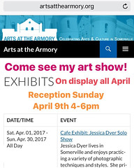 My Photography Show Is Up! ((Jessica)) Tags: armory artsatthearmory somerville boston newengland massachusetts
