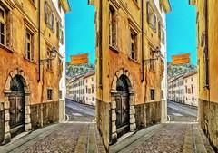 Walking 3D / 1 (Foto&Grafica 2D/3D) Tags: viadellaterra rovereto trentino italy 3d stereophotography stereoscopy