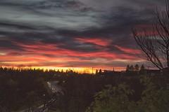Sunrise YYC 2015 October (John Andersen (JPAndersen images)) Tags: bowriver calgary calm clouds cloudy fall log red reflections still sunrise