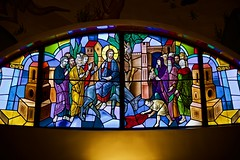 Happy Palm Sunday! (ineedathis,The older I get the more fun I have....) Tags: church christian huntington palmsunday greekorthodox stainglass art saintparaskevi religion colors celebration nikond750