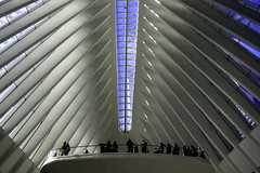 Oculus (phillytrax) Tags: nyc ny newyork newyorkcity 212 718 manhattan city urban usa america unitedstates metropolis metropolitan bigapple lowermanhattan worldtradecenter oculus transportationhub skylight light air sky santiagocalatrava balcony financialdistrict mta panynj portauthority linear
