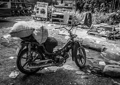Vehicle for Ice Trading (tumivn) Tags: ice bike monochrome icetrade blackandwhite a99ii zeiss1635