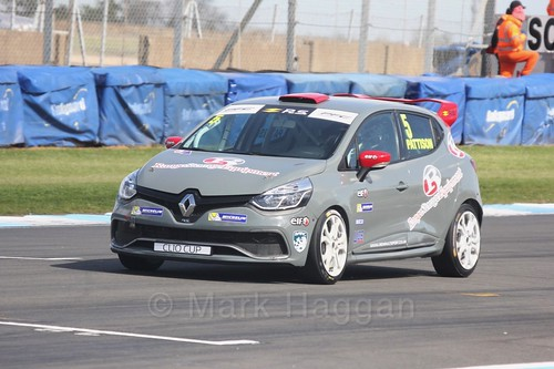 Lee Pattison in the Clio Cup qualifying during the BTCC Weekend at Donington Park 2017: Saturday, 15th April